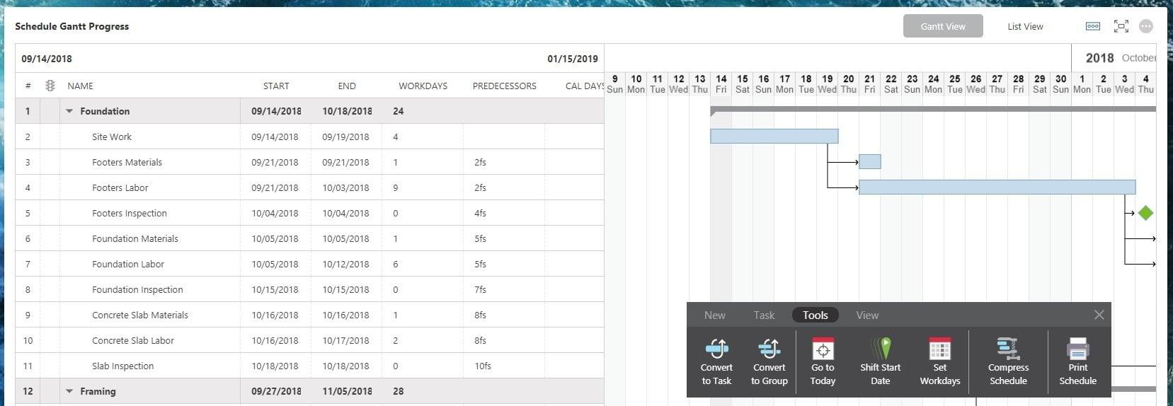 Compress Schedule New COL