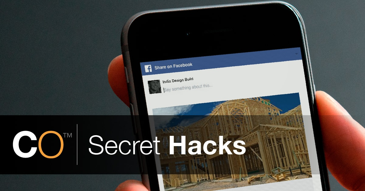 ConstructionOnline Secret Hacks: Social Media Share