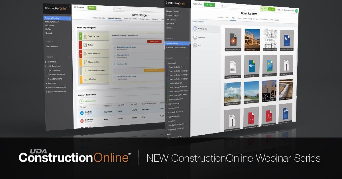 ConstructionOnline Webinar Series: New ConstructionOnline